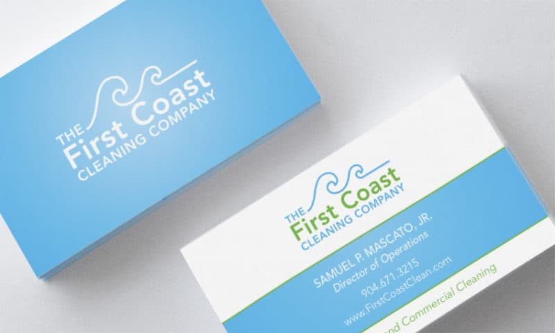 First Coast Cleaning Business Cards